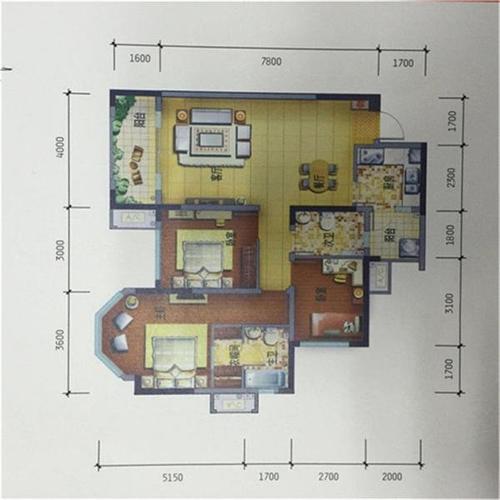 成都3室2厅2卫112㎡-香山半岛户型图-买房大师