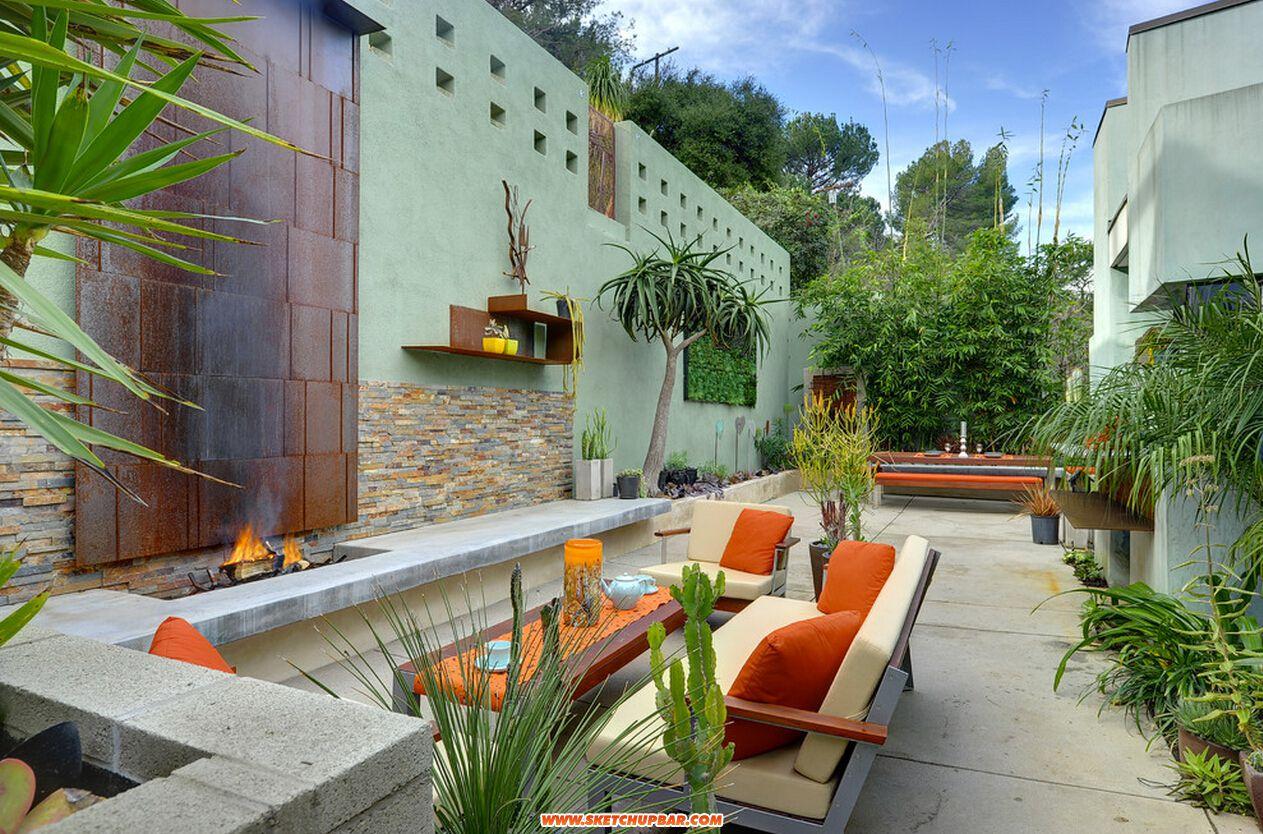 庭院设计效果图 庭院装修设计效果图欣赏