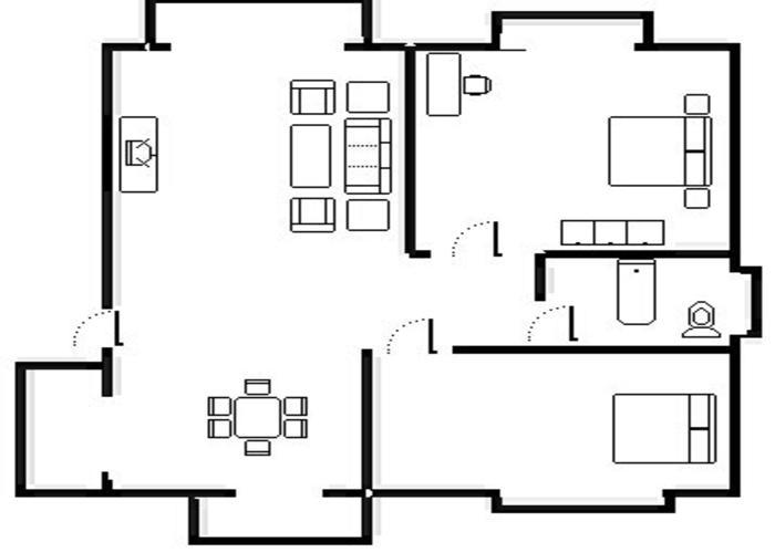 上海2室2厅1卫71㎡-金水苑户型图-买房大师