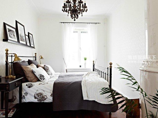 黑白简约40平米小户型卧室装修效果图