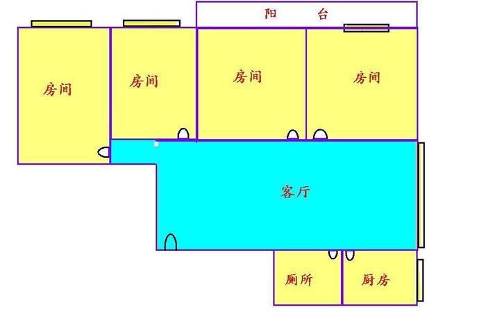 广州小区 越秀区小区 东川大厦 户型图                            4