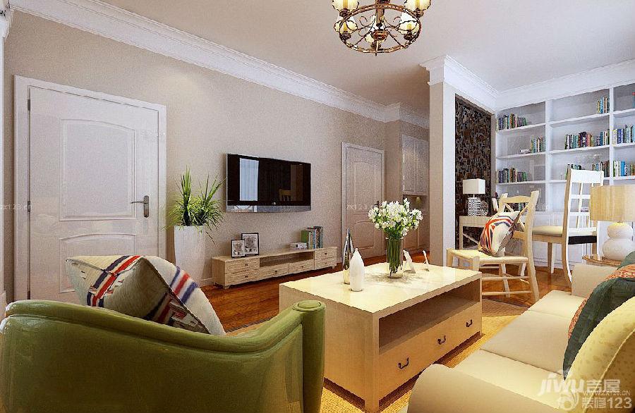 家装欧式田园风格电视墙有门装修效果图大全