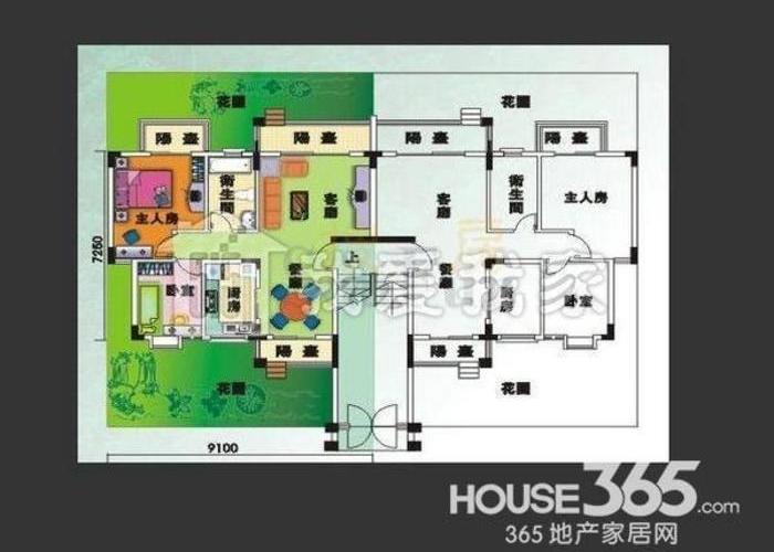 南京10室4厅8卫600㎡-帝豪花园别墅户型图-南京房多多