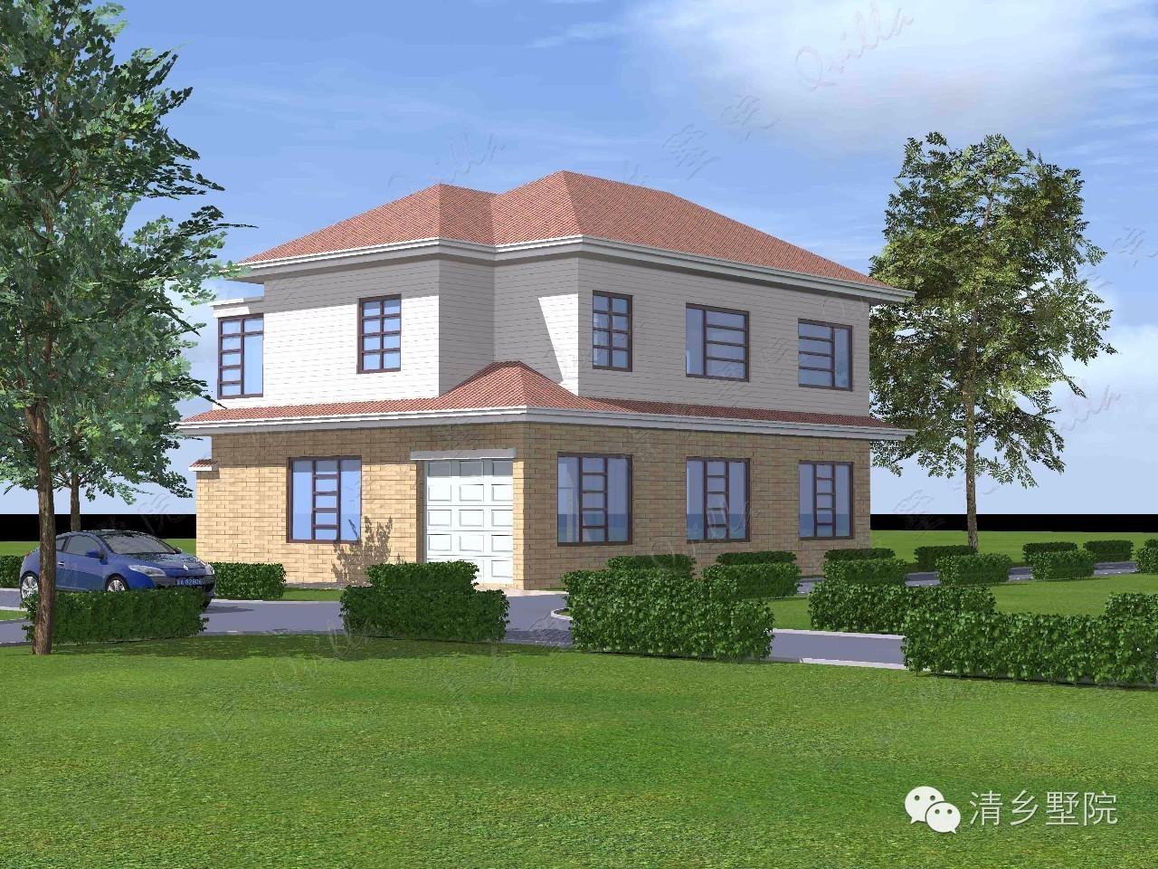 设计说明        周先生的农村自建房屋,是很典型的欧式风格住宅
