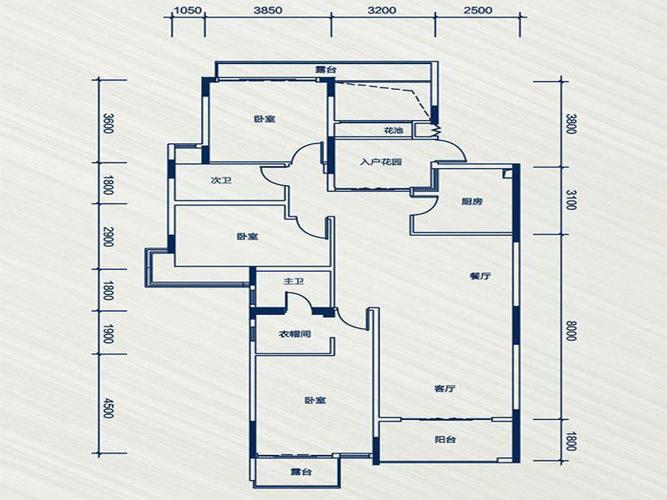 户型特点:雅居乐国际花园雅郡24栋3层b户型户型图 雅居乐