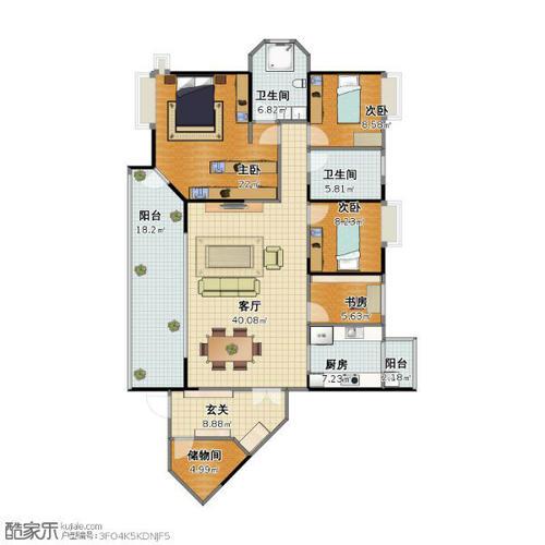成都5室2厅2卫113㎡-洛森堡新殿户型图-买房大师