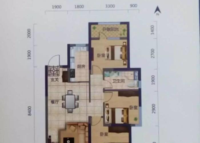 沈阳3室2厅1卫108㎡-维士法兰香颂户型图-买房大师