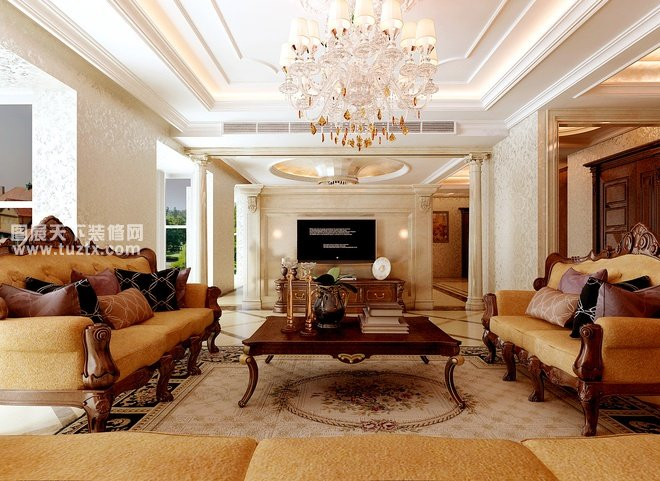 奢华华丽,高雅的欧式古典元素欧式风格