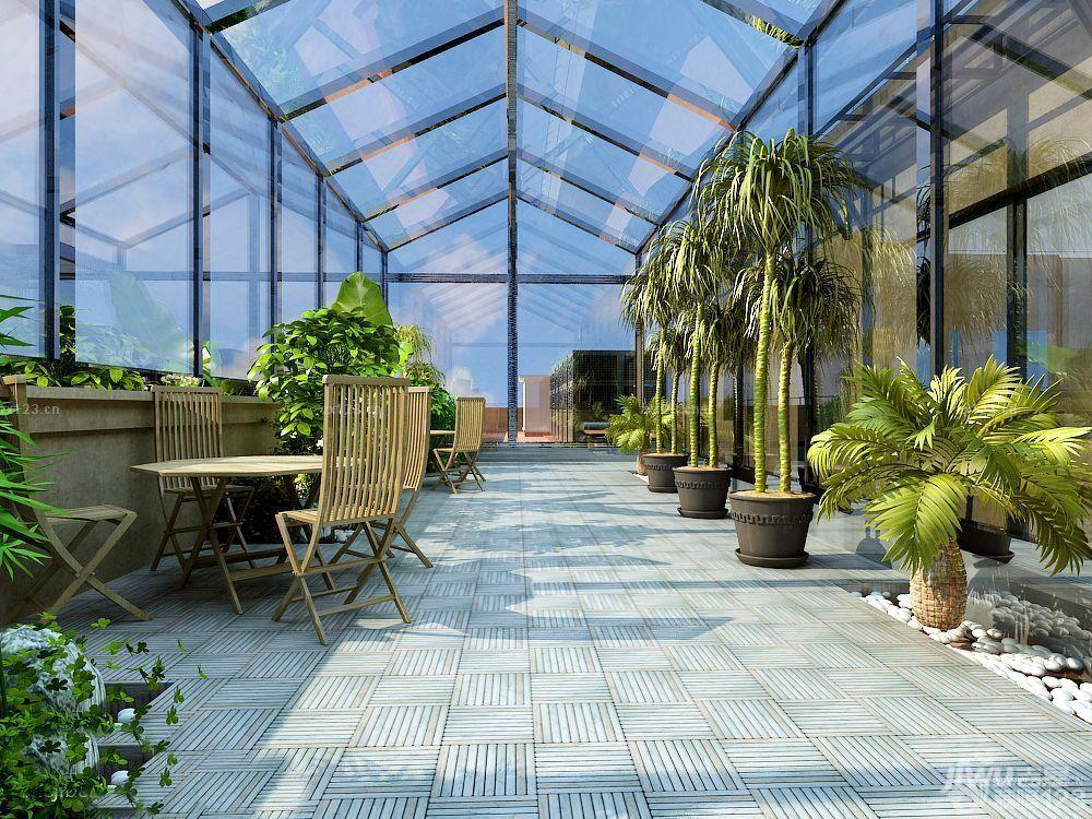 个性阳台阳光房屋顶花园设计图欣赏