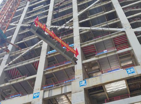 a栋建筑为钢框架-支撑结构,地上34层:结构采用27根钢管柱竖向主体支撑