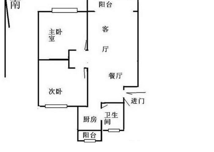 上海小区 虹口区小区 普江苑 户型图                            2室