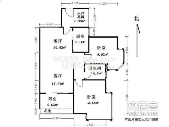 成都3室1厅1卫93㎡-洛森堡新殿户型图-买房大师