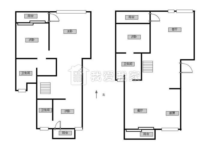 杭州4室2厅2卫170㎡-海澜半岛户型图-买房大师