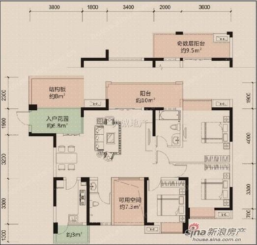成都4室2厅2卫118㎡-洛森堡新殿户型图-买房大师