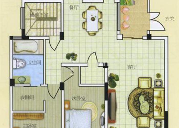 金都花园 -无锡3室2厅2卫151㎡ 金都花园户型图