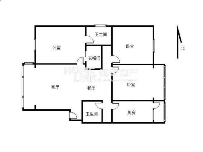 成都3室2厅2卫109㎡-双楠风景户型图-买房大师