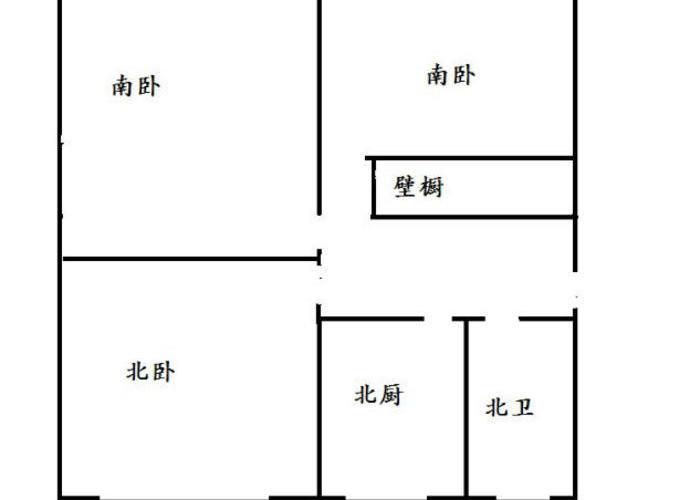 青岛3室0厅1卫66㎡-嘉定路户型图-青岛房多多