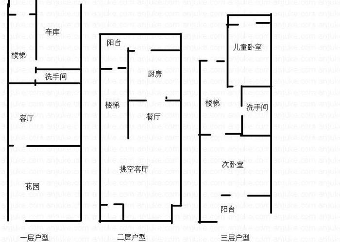 青岛5室3厅3卫227㎡-美林小镇户型图-青岛房多多
