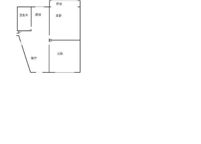 上海2室1厅1卫76㎡-水电路1381弄户型图-买房大师