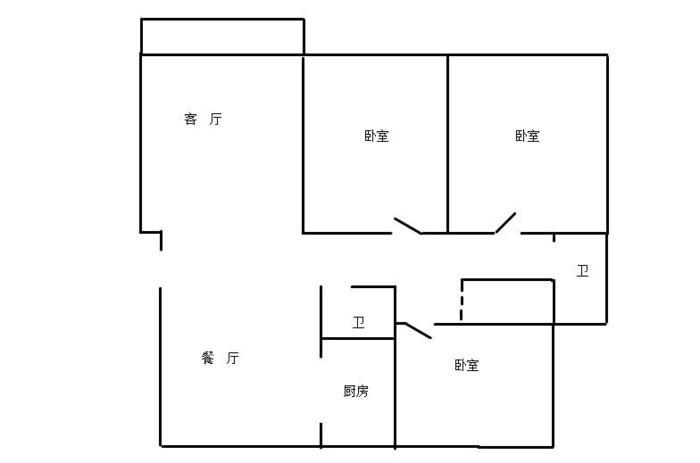上海2室1厅1卫76㎡-逸兴家园户型图-买房大师