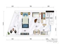 国正天境湾1室1厅1卫户型图