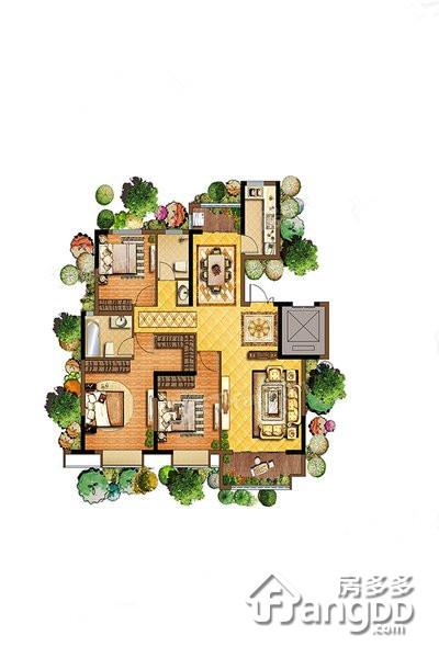 聚丰一城江山3室2厅2卫户型图