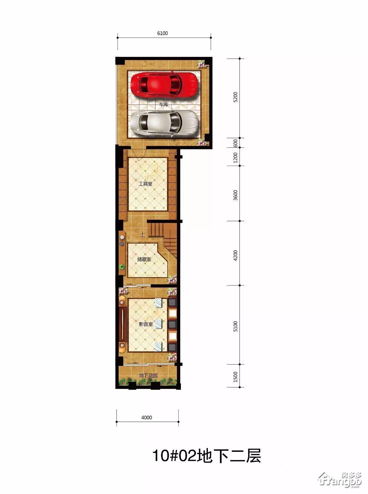 D型 5室3厅5卫256.91㎡