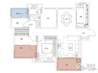 万科苏高新中央公园4室2厅1卫户型图