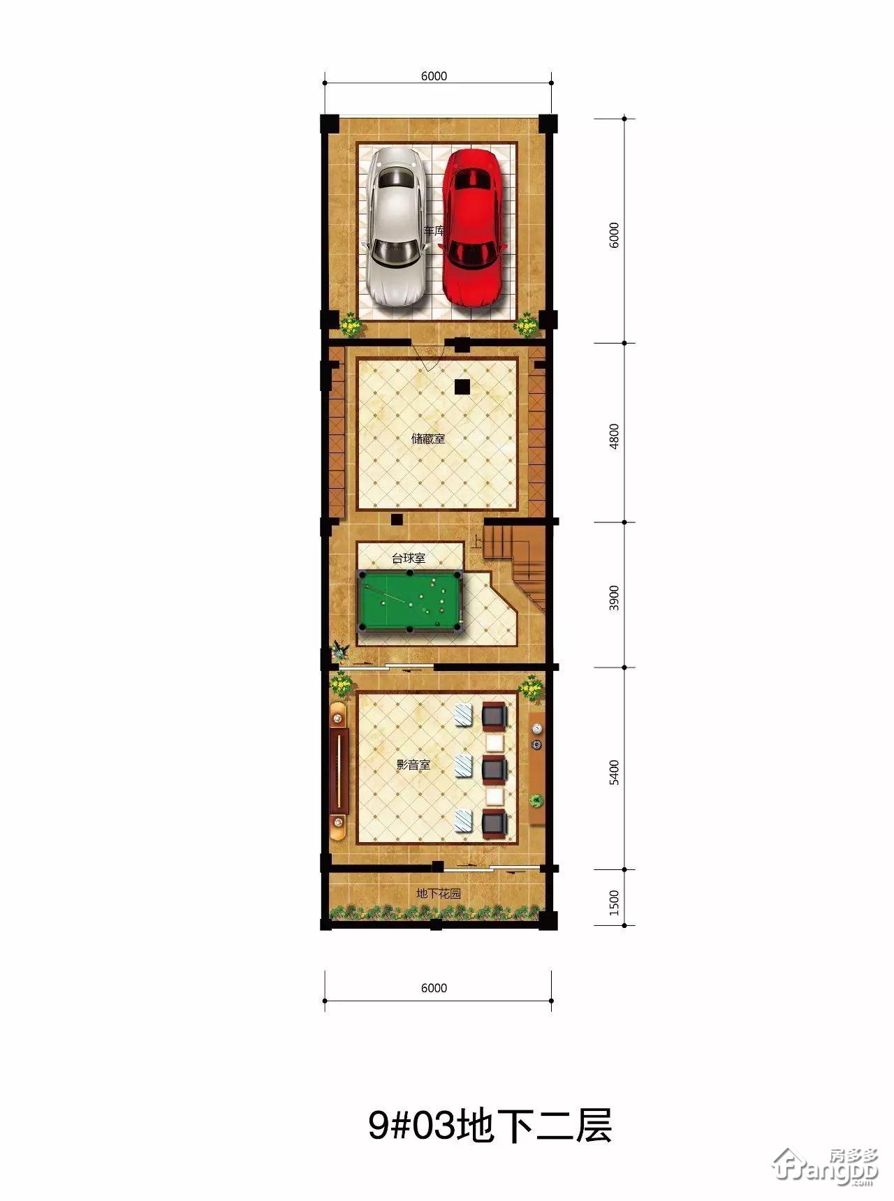 B型 5室3厅5卫267.4㎡