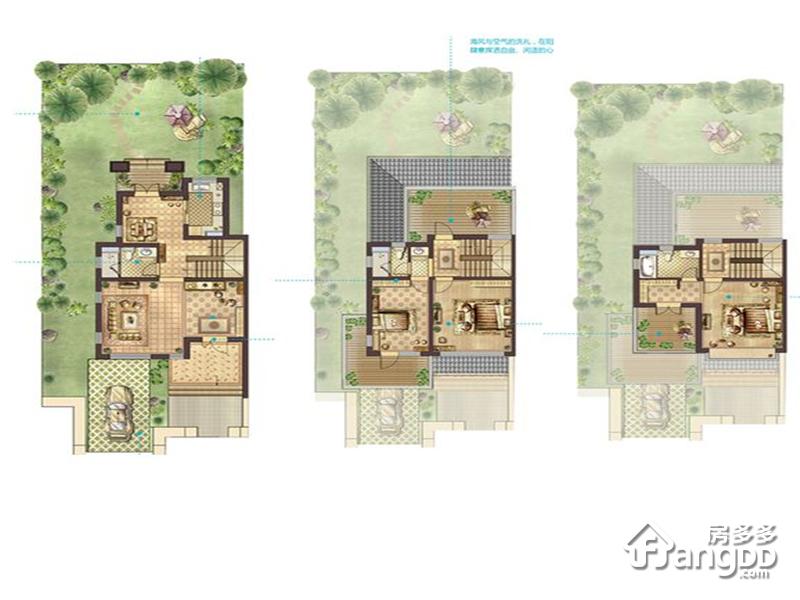 蔚蓝海岸3室3厅3卫户型图