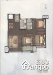 龙湖舜山府3室2厅1卫户型图