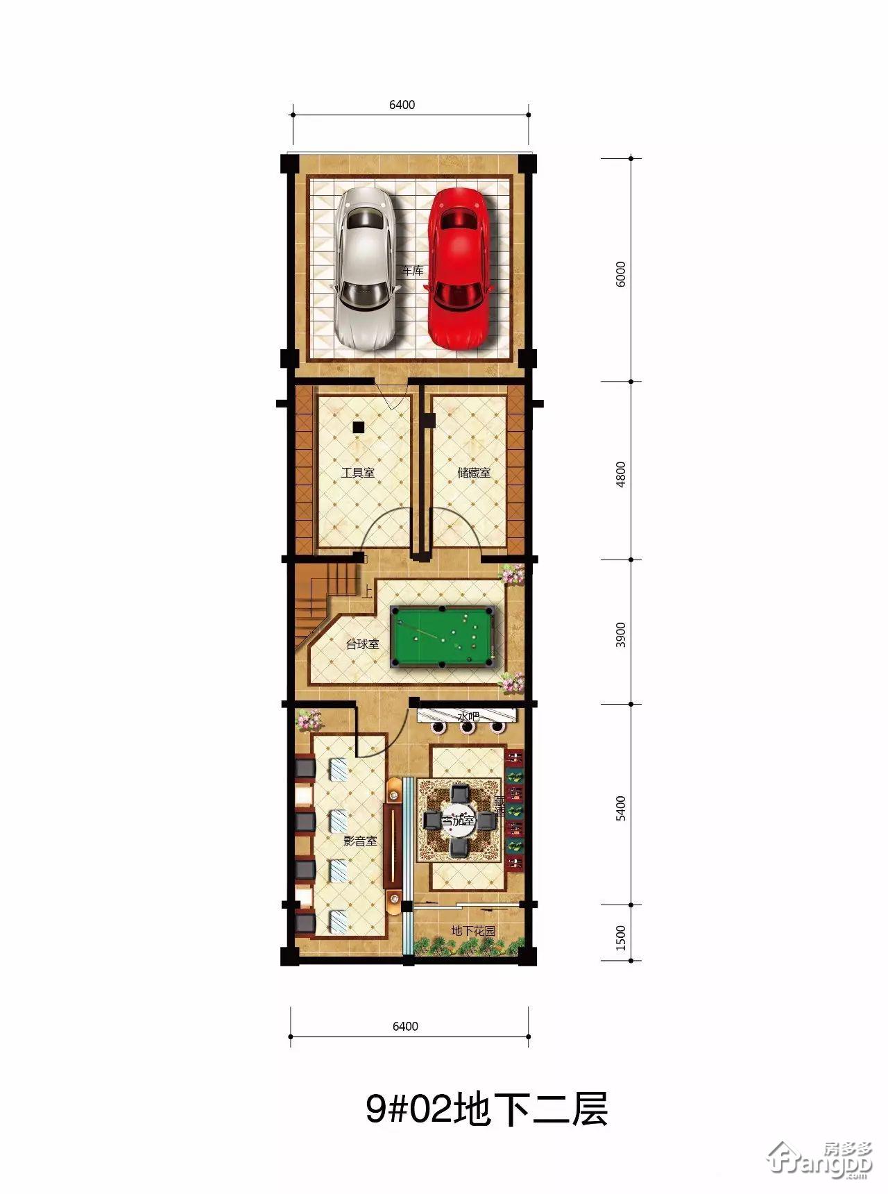 C型 5室3厅5卫285.2㎡