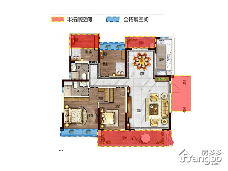 碧桂园湖光山色1室1厅1卫户型图