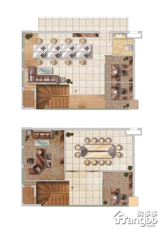 月城科技广场2室1厅1卫户型图