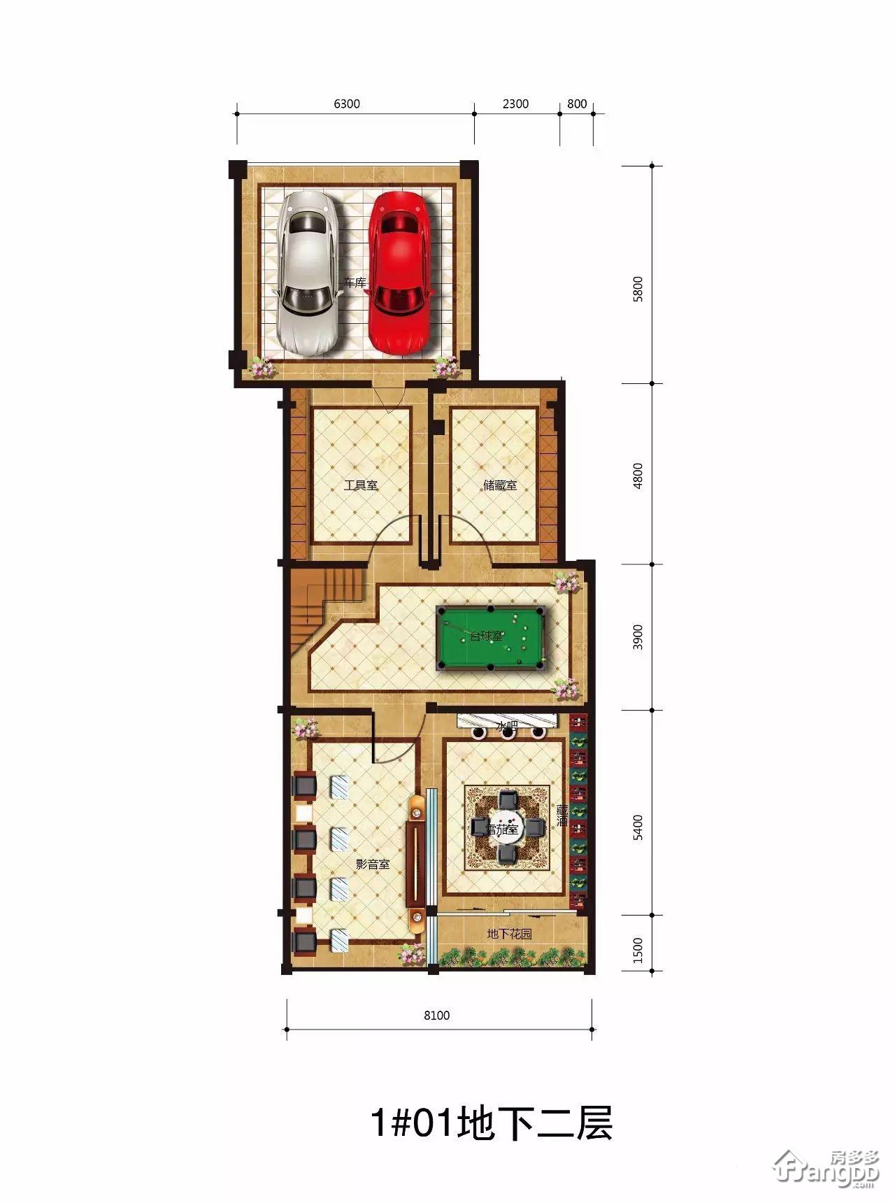 A型 5室3厅5卫341㎡