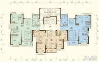 恒大御府3室2厅2卫户型图