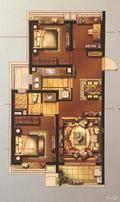 林屿墅3室2厅1卫户型图