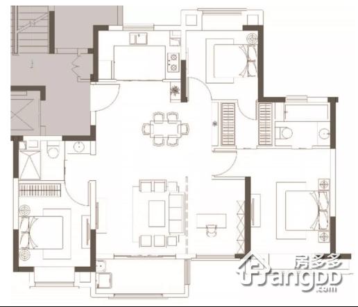 万科安亭新镇3室2厅3卫户型图