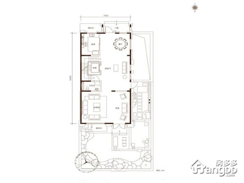 观承别墅4室4厅4卫户型图