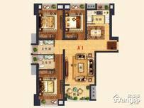 永鸿·悦海湾3室2厅2卫户型图