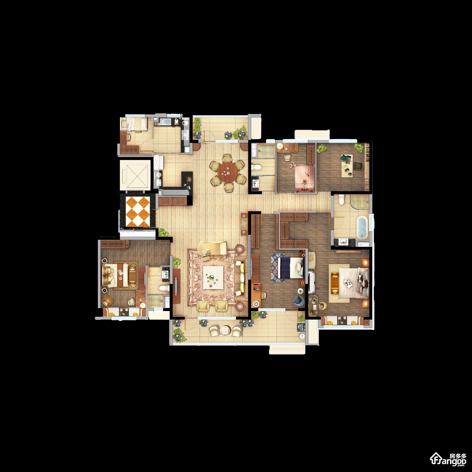 碧桂园玖州府2室1厅1卫户型图
