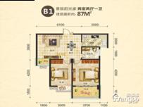 尚上名筑2室2厅1卫户型图