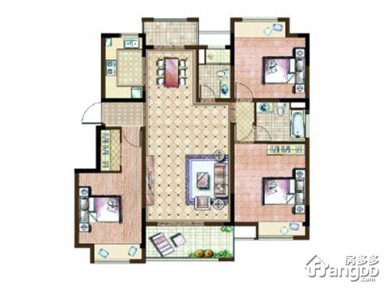 Y-3户型 3室2厅2卫126㎡