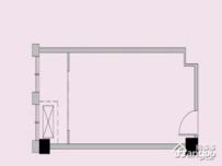 祥源城·湖山小筑1室1厅1卫户型图