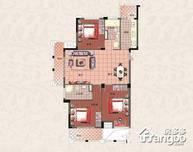 万城春天3室2厅2卫户型图