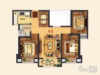永鸿·悦海湾3室2厅1卫户型图