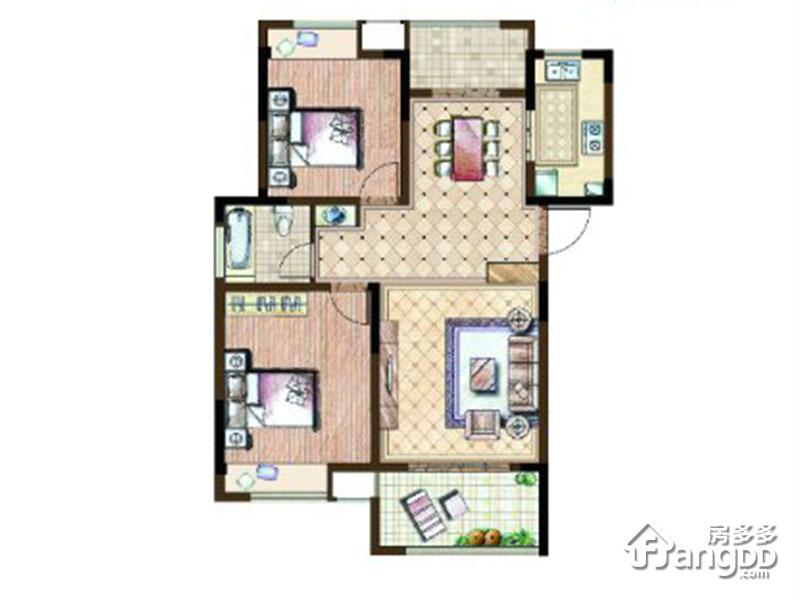 Y-2户型 2室2厅1卫96㎡