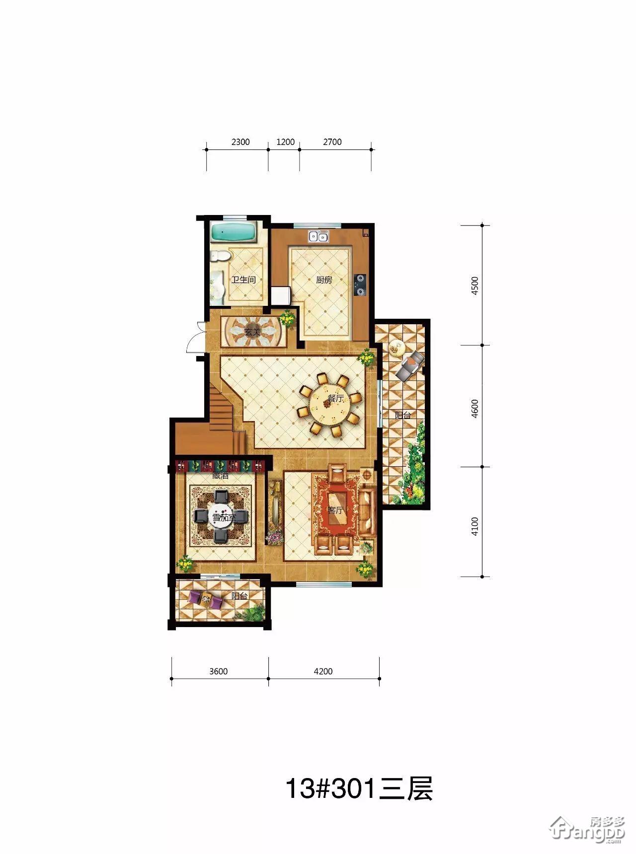 F型 5室3厅5卫245.79㎡