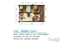 隆源神州半岛2室2厅1卫户型图