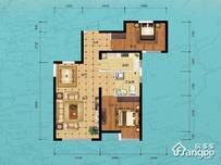 力高阳光海岸2室2厅1卫户型图